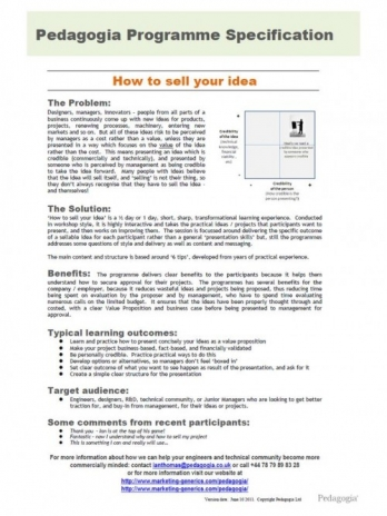 Image for High-level business presentations. Selling your idea to senior management